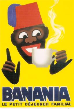 Postcard promoting Banania hot chocolate, printed in 2007.