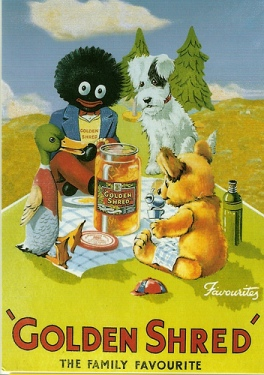 Poster for Golden Shred marmalade by Robertson's Jam.