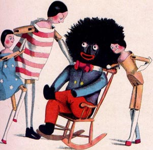Illustration from Florence Upton's Two Dutch Dolls and a Golliwog (1895)