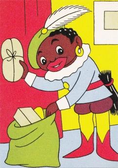 Zwarte Piet postcard (ca. 1950)